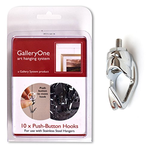 Add-On Hooks for GalleryOne Art Hanging System - Package of