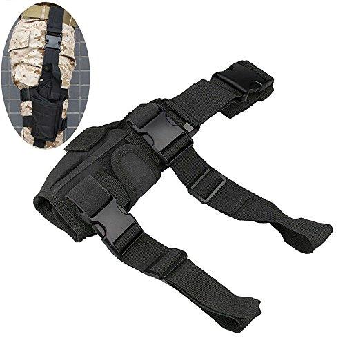 Efanr Tactical Leg Holster Bag Adjustable Pistol Hand Gun Drop Leg Thigh Holster Harness Magazine Pouch Bundled Sleeve Sets of Waist for Airsoft Paintball Hunting Gun Training (Black)