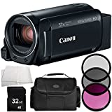Canon VIXIA HF R700 Full HD Camcorder (Black) 5PC Accessory Bundle (Certified Refurbished) – Includes 32GB SD Memory Card + 3PC Filter Kit (UV + CPL + FLD) + MORE -  Canon Refurbished