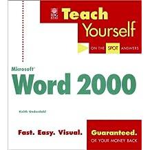 Teach Yourself Microsoft Word 2000