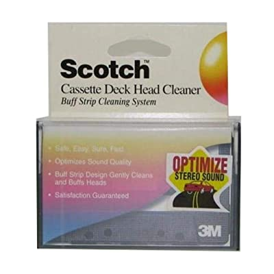 Scotch Cassette Deck Head Cleaner Buff Strip Cleaning System 3M: Automotive