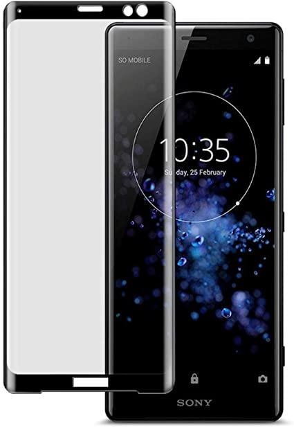 ZealBea Focus Protector Pantalla Sony Xperia XZ3, Cristal Templado 3D Borde Redondo / 9H Dureza/Sin Burbujas/Instalación Fácil Película de Vidrio Templado para Sony Xperia XZ3 (Negro): Amazon.es: Electrónica