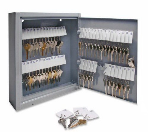 60 Key Storage Safe Cabinet Lock Box Wall Mount Holder Organizer Rack Security by Lock Boxes