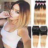 Fashion Lady Hair Peruvian 300g Silky Hair Dark Roots Honey Blonde And Hair