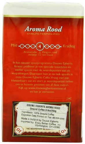 Douwe Egberts Aroma Rood Ground Coffee, 8.8-Ounce Package