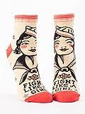 Blue Q Fight Like A Girl Women's Ankle Socks;5-10