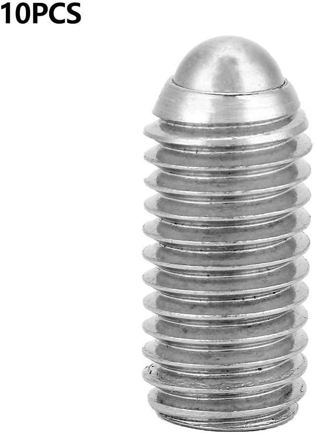10pcs Federkugel Kolbenschraube ,M12 Sechskantschraube mit Edelstahlgewinde f/ür Schmierger/äte Druckluftwerkzeuge M12*25