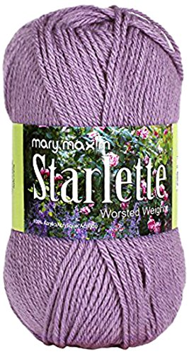 Mary Maxim Starlette Yarn - Amethyst- 100% Ultra Soft Premium Acrylic Yarn for Knitting and Crocheting - 4 Medium Worsted Weight