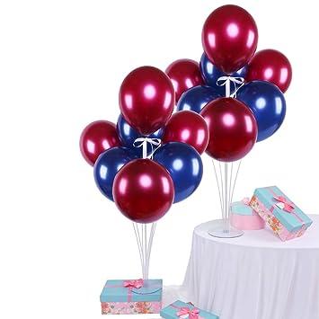 Amazon.com: Juego de 14 globos metálicos cromados para ...