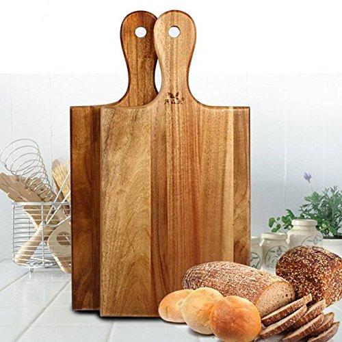 Mark8shop Fruit Vegetables Acacia Wood Cutting Board Chopping Block Antibacterial Wooden Cutting Board