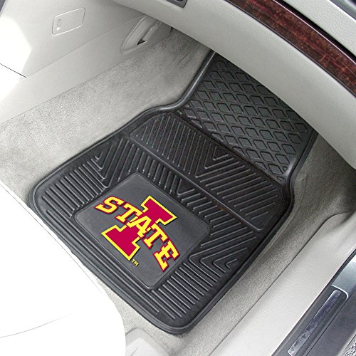 Iowa State Cyclones Official NCAA 18 inch x 27 inch Heavy Duty 2-Piece Vinyl Car Mats by Fanmats by Fanmats