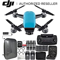 DJI Spark Portable Mini Drone Quadcopter Fly More Combo Hardshell Backpack Bundle (Sky Blue)