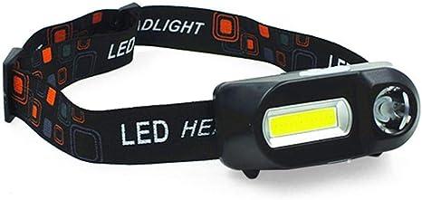 COB LED Headlight Headlamp Flashlight USB Rechargeable Torch Night Light