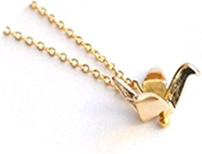 Silver Crane, japonés de grúa para Origami, plateado origami collar, Wish collar, diseño de colgante, collar diario