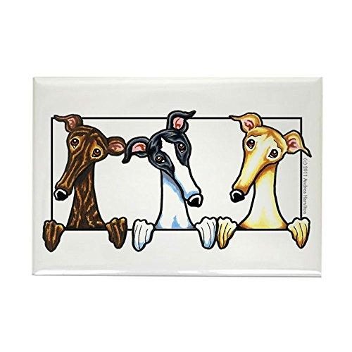 CafePress - Greyhound Lover Rectangle Magnet - Rectangle Magnet, 2