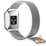 NO1seller Top Fitbit Ionic Bands Small&Large - Magnetic Milanese Loop Stainless Steel Band Replacement Accessories for Fitbit Ionic Smartwatch Women and Men