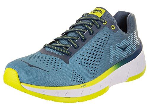Hoka One Men s Cavu Niagara Blue Vintage Indigo Ankle-High Mesh Running Shoe – 12M