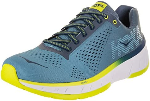 Hoka One Men s Cavu Niagara Blue Vintage Indigo Ankle-High Mesh Running Shoe – 13M