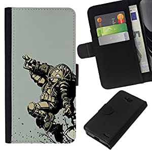 All Phone Most Case / Oferta Especial Cáscara Funda de cuero Monedero Cubierta de proteccion Caso / Wallet Case for LG OPTIMUS L90 // Bi0Shock Big Daddy - Gaming