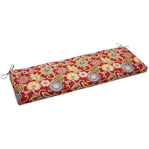 "UPC 749645625185, Blazing Needles Patterned Outdoor Spun Polyester Bench Cushion, 57"" Wide, Alenia Pompeii"