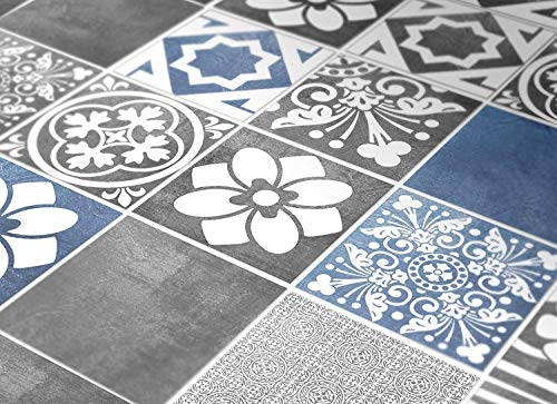 Tiles Stickers Decals - Packs with 56 Tiles (3.9 x 3.9 inches, Tiles for Kitchen Backsplash Decor Vogue Blue)