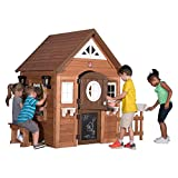 playhouse for kids Step2/Backyard Discovery Sunny Ridge All Cedar Wooden Playhouse, Brown/Tan