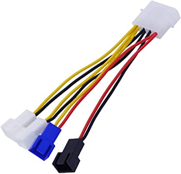 JMT 1 Unidad 4 Pin a 3 Pin Ventilador Cable Adaptador Conector 12V ...