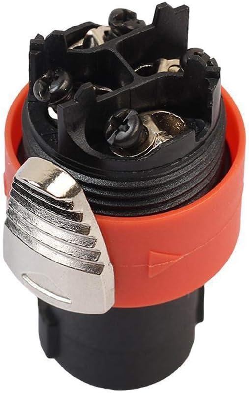 10pcs 4-Pole Male Speakon Audio Cable Connector Speaker Plug for NEUTRIK NL4FC