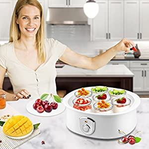 Automatic Digital Yogurt Maker Machine 7 Glass Greek Jars Customize To Your Flavor And Thickness Electric Digital Maker 1.5L