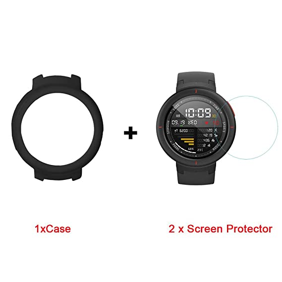 Amazon.com: for Amazfit Verge Case, Lamshaw Silicone Case ...