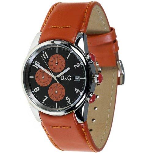 Dolce & Gabbana correa de reloj 3719770107 Cuero Naranja 20mm + costura naranja(Sólo reloj