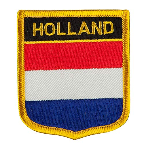 Europe Flag Embroidered Patch Shield - Holland OSFM