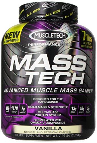 Supplément de performance Muscletech Masstech, Vanille, 7,05 Pound