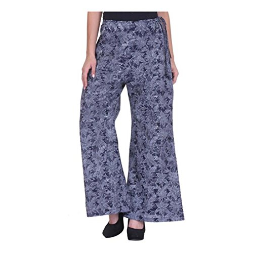 Blue Trousers Fusion Nika Handicrfats Women's White Export Indian Flared qY7x1Tg