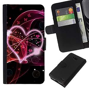 All Phone Most Case / Oferta Especial Cáscara Funda de cuero Monedero Cubierta de proteccion Caso / Wallet Case for LG OPTIMUS L90 // Love Pink