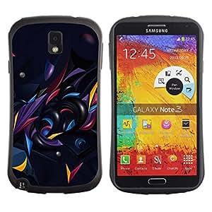 "Pulsar iFace Series Tpu silicona Carcasa Funda Case para Samsung Note 3 , Negro Oscuro extracto forma Oro"""