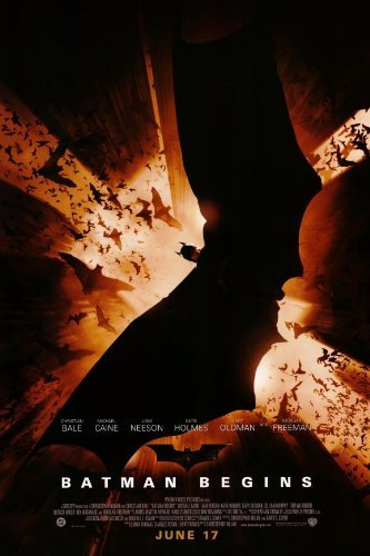 Batman Begins New Movie Poster - Batman Begins POSTER Movie (11 x 17 Inches - 28cm x 44cm) (2005) (Style C)