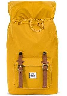 8d69a86c658 Herschel Little America Mid-Volume Backpack, Arrowwood/Tan Synthetic  Leather, One Size