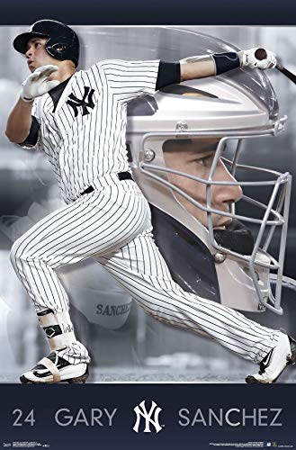"Trends International New York Yankees - Gary Sanchez Wall Poster, 22.375"" x 34"", Multi"