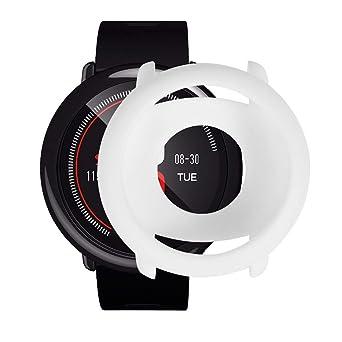 2019, ¡Nuevo! Reemplazo de TPU Suave Cubierta de la Caja Completa de Silicona Marco Protector para Xiaomi Huami AMAZFIT Pace Smart Watch