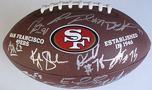 (2017 San Francisco 49ers, Niners, Team, Signed, Autographed, NFL Logo Football, a COA and the Proof Photos of 49ers Players Signing the Football Will Be Included)