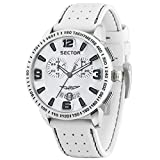 Sector Marine 400 Men's Chronograph Watch White Dial Clasp Strap