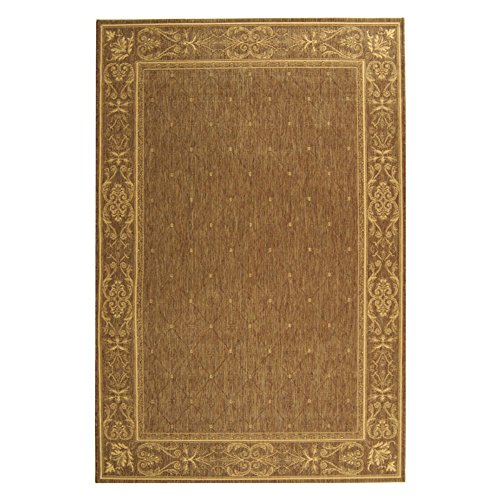 Safavieh Transitional Rug - Courtyard Polypropylene -Brown/Natural Brown/Natural/Transitional/5'L x 2'7
