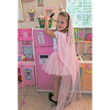 Party Cape Princess Dress Up Set with Unicorn Headband, Super Hero Cape, Tutu and Veil Easy On and Off for Little Girls.