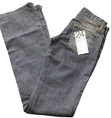 Super Low Bootcut Womens Jeans (Paper Denim & Cloth Super Low 5 Flare Medium Wash Boot Cut Low Rise Blue Jeans - Size 24)