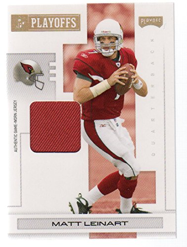 2007 Playoff NFL Playoffs Materials Gold #4 Matt Leinart jersey #11/25 Arizona (Matt Leinart Nfl Jersey)