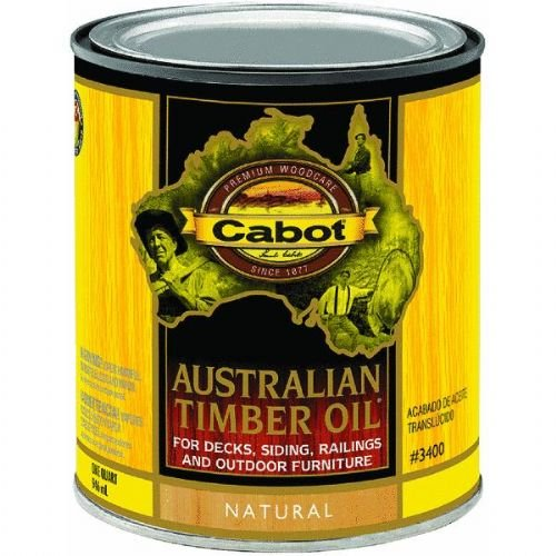 Ext Oil Stain (Cabot 140-3400 QT 1 Quart Natural Australian Timber Oil® For Outdoors)