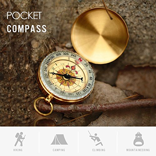 TraderPlus Military Compass Hiking Camping Survival Gear Compass Outdoor Navigation Tools, Glow in the Dark
