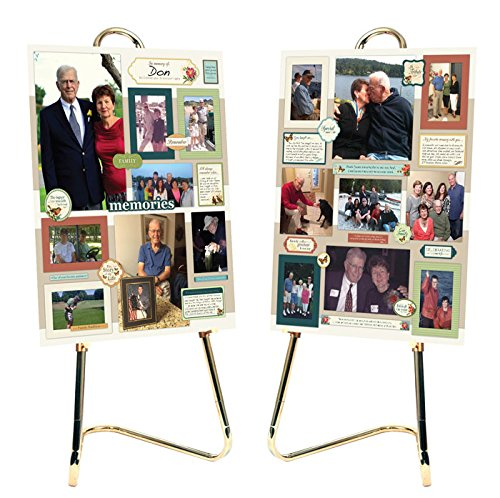 Memory Board Photo Collage Kit - 8 Pages of Stickers and Embellishments for Memorials, Funerals or Celebration of Life (Favors Picture Celebration Frame)