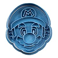 Cuticuter Mario Bros Mario Face Cookie Cutter, Blue